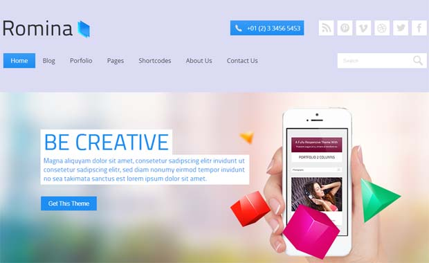 Romina - Responsive SEO Friendly WordPress Theme