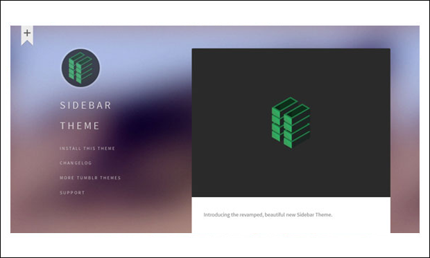 SIDEBAR - Tumblr WordPress Themes