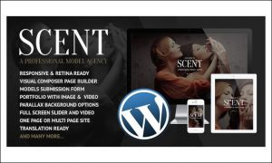 Scent - Fashion Model Agency WordPress Themes