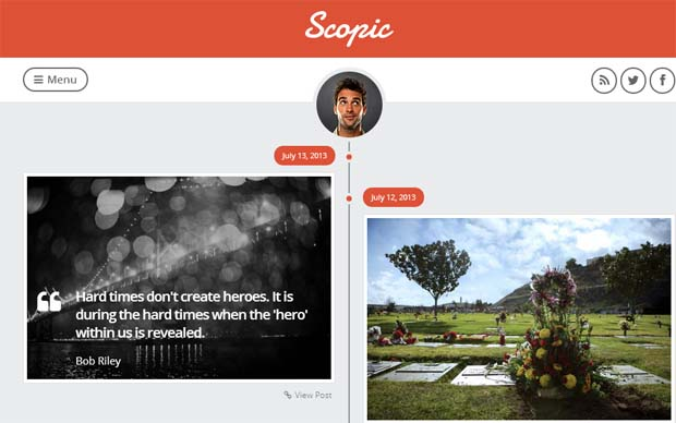 Scopic - Responsive Tumblr WordPress Theme