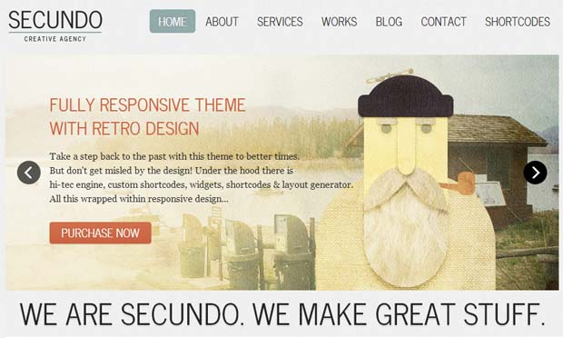 Secundo - Responsive Vintage WordPress Theme