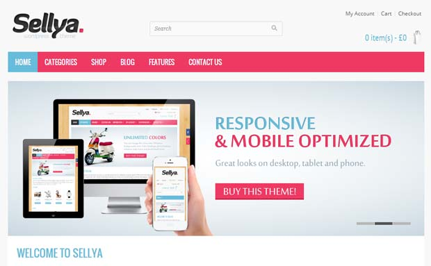 Sellya - Responsive eCommerce WordPress Theme
