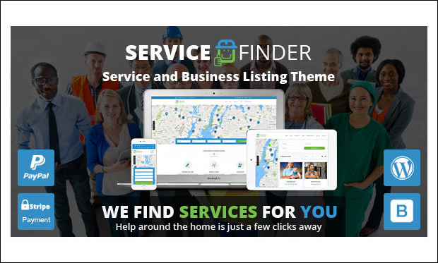 Service Finder - Directory Listings WordPress Themes