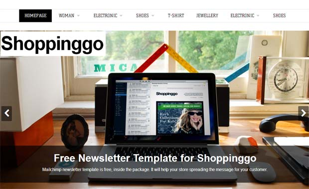 Shoppinggo - Responsive eCommerce WordPress Theme
