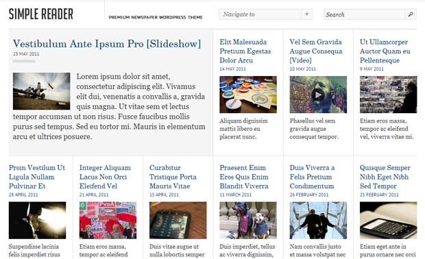 SimpleReader - Responsive NewsPaper WordPress Theme