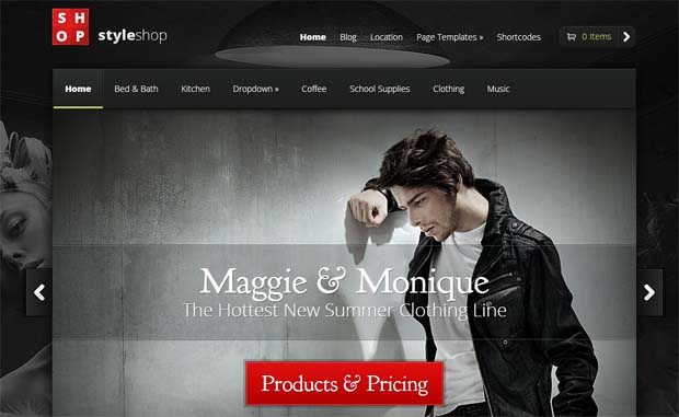StyleShop - Responsive eCommerce WordPress Theme