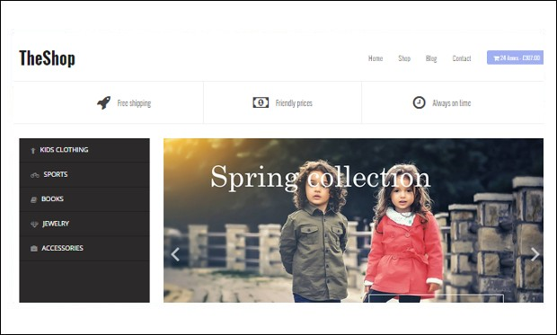 TheShop - Shopping Cart WordPress Themes
