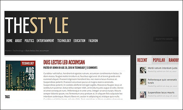 TheStyle - Boutique WordPress Themes