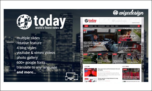 Today - WordPress Themes for NewsPaper Sites