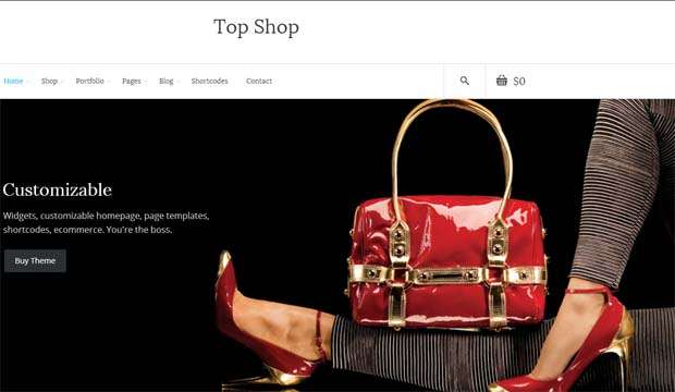 Top Shop - Responsive eCommerce WordPress Theme