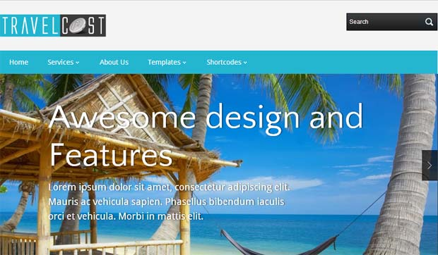 TravelCoast - Free Responsive WordPress Theme