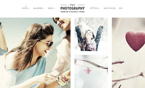 Tripod - Responsive Photography WordPress Theme