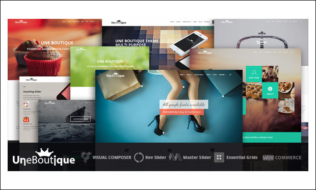 Une Boutique - Boutique WordPress Themes