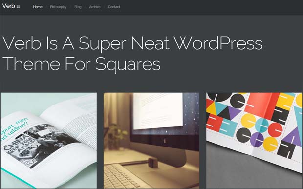 Verb - Typography WordPress Theme