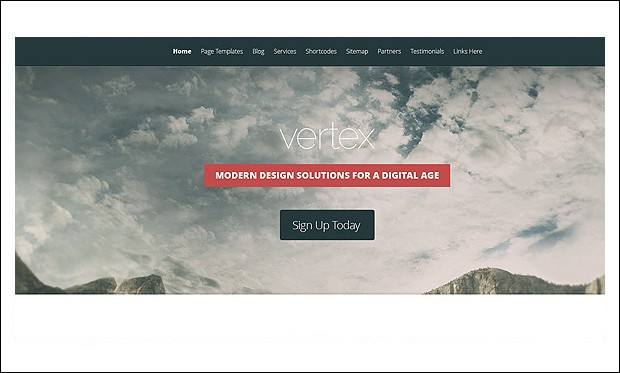 Vertex - Visual Artists WordPress Themes