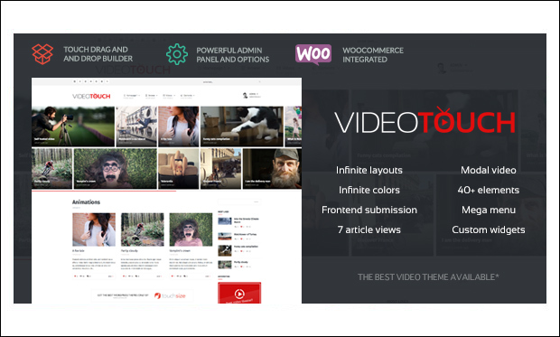 VideoTouch - Multimedia WordPress Themes