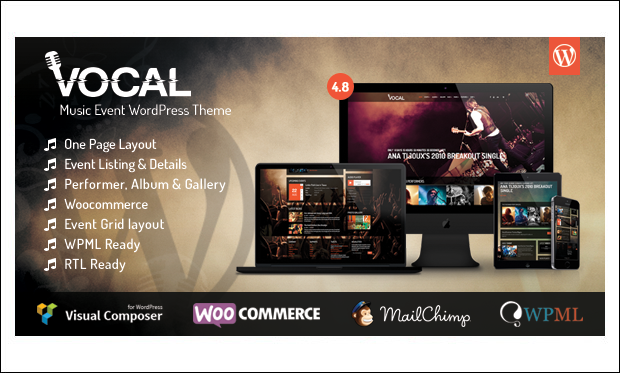 Vocal - Musicians WordPress Themes