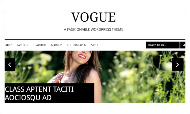 Vogue - Tumblr WordPress Themes