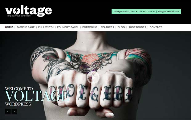 Voltage - Responsive HTML5 WordPress Theme