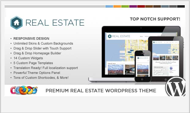 WP Pro Real Estate 3 - Commercial Real Estate WordPress Theme