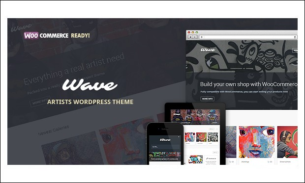 Wave - Visual Artists WordPress Themes