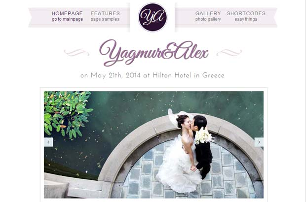 Wedding Day - Responsive Bootstrap WordPress Theme