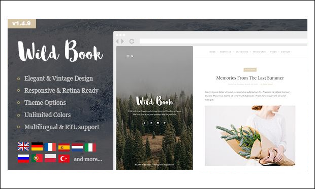 Wild Book - Book Author WordPress Themes