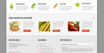 WordPress Responsive Theme for Agriculture Company