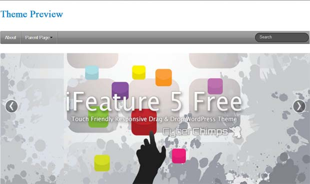 iFeature - Free Responsive WordPress Theme