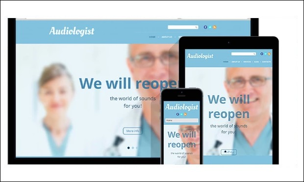 Audiologist - WordPress Themes for Hospitals