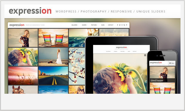Expression - Responsive Image Gallery WordPress Theme