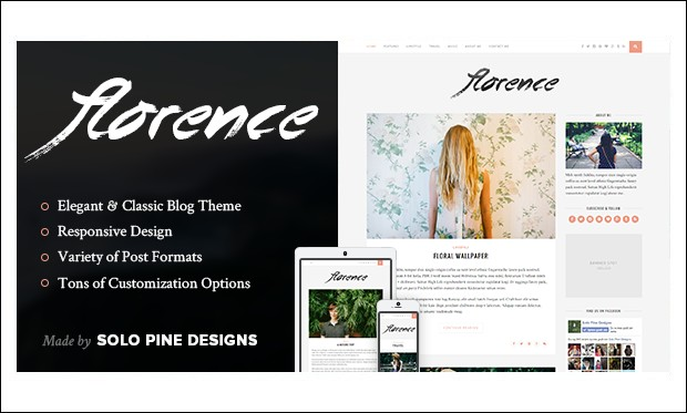 Florence - Typography WordPress Themes