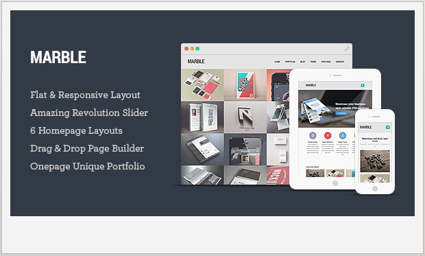 Marble - Responsive Showcase WordPress Theme