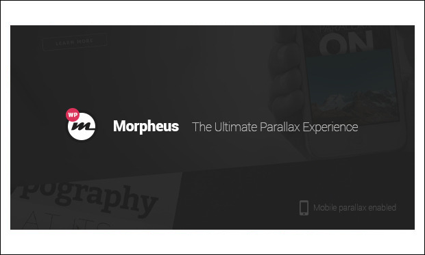 Morpheus - Typography WordPress Themes