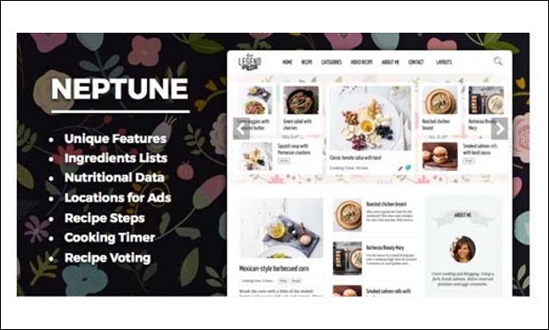 Neptune - WordPress Themes for Recipes and Food Websites