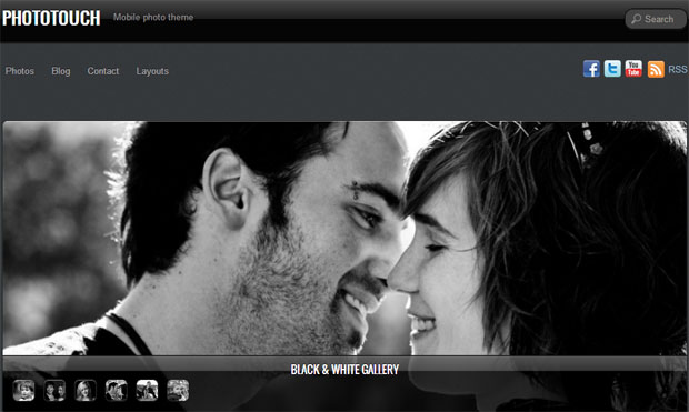 Photo Touch - Responsive Image Gallery WordPress Theme