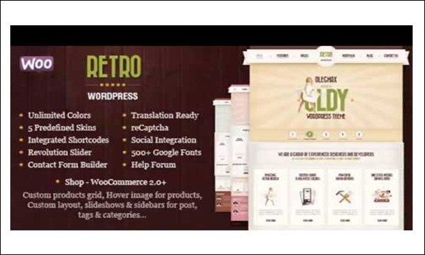 Retro - Vintage Responsive WordPress Themes
