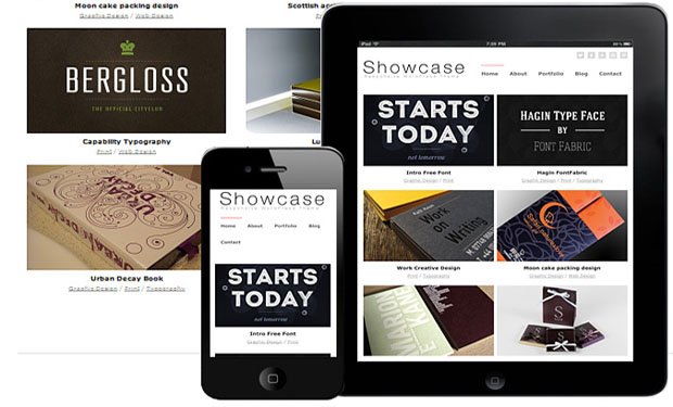 Showcase - Responsive Showcase WordPress Theme