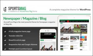 SportsMag - WordPress Themes for Sports Magazines