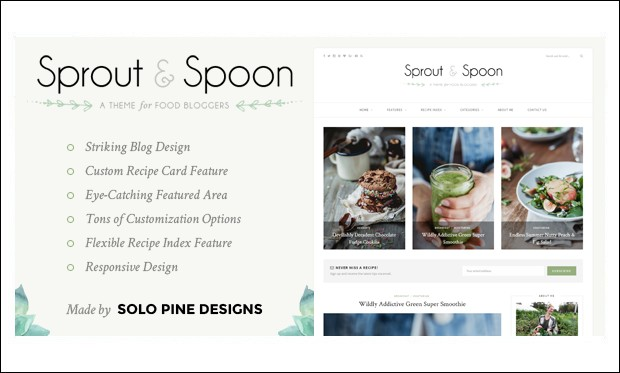 Sprout & Spoon - WordPress Themes for Recipes and Food Websites