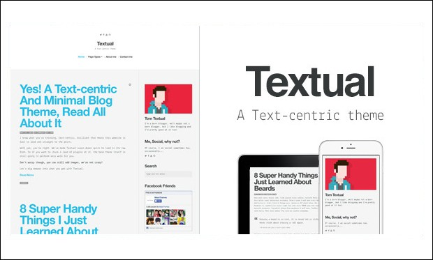Textual - Typography WordPress Themes