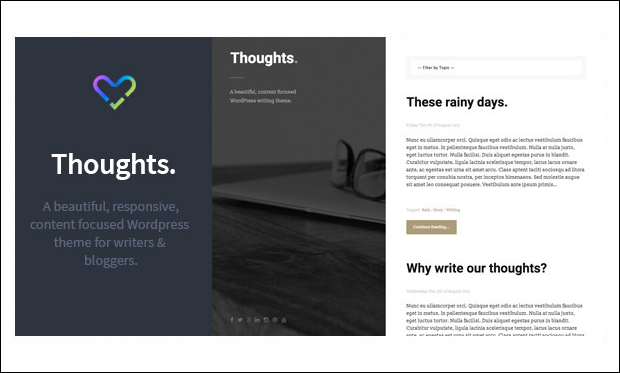 Thoughts - Typography WordPress Themes