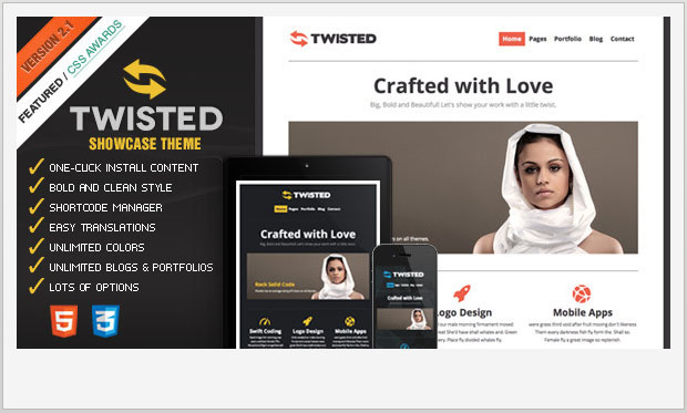 Twisted - Responsive Showcase WordPress Theme