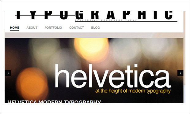 Typographic - Typography WordPress Themes