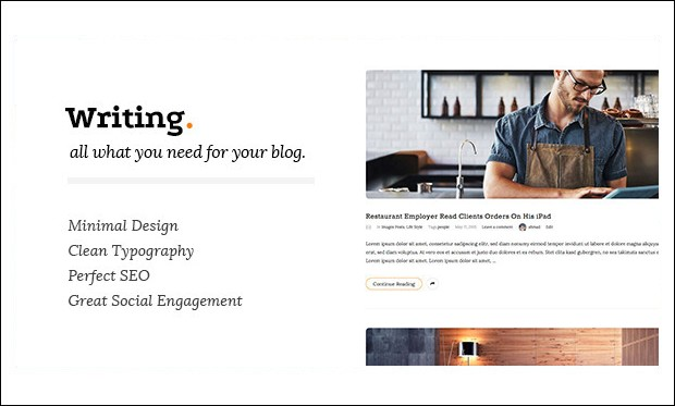 Writing - Typography WordPress Themes