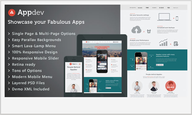 Appdev - Responsive Showcase WordPress Theme