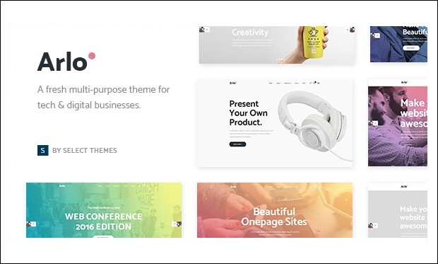 Arlo -Showcase WordPress Themes