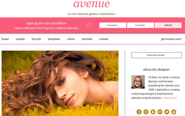 Avenue - Girly WordPress Theme
