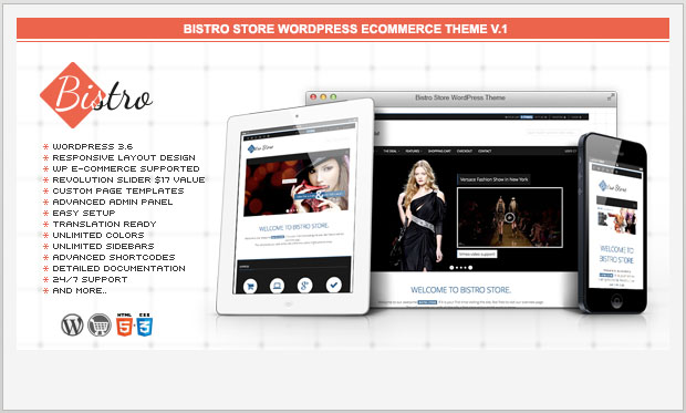 Bistro - Store WordPress Theme