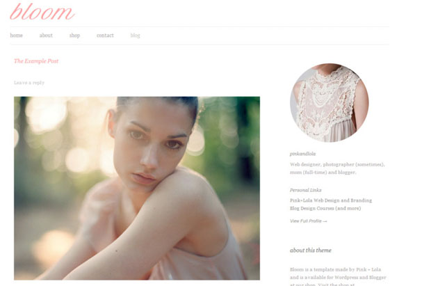 Bloom - Girly WordPress Theme